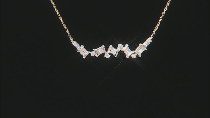 White Diamond 10K Yellow Gold Necklace 0.25ctw