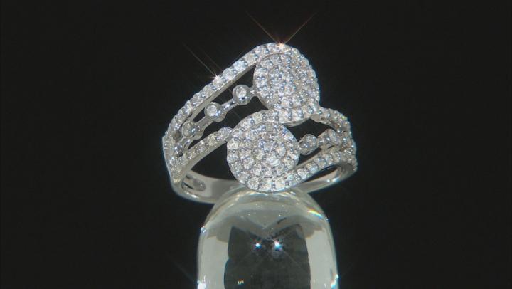 White Diamond 14K White Gold Open Design Ring 0.90ctw