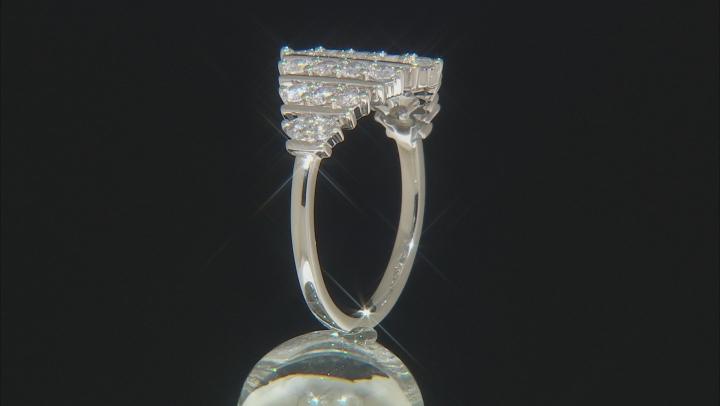 Diamond 10K White Gold Cluster Ring 1.00ctw