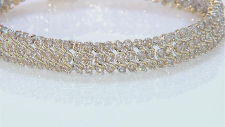 Diamond 10K Yellow Gold Tennis Bracelet 6.00ctw