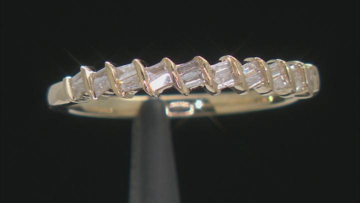 White Diamond 10k Yellow Gold Band Ring 0.15ctw