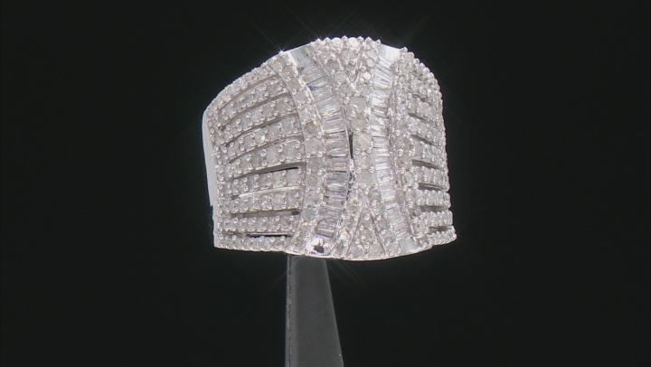 White Diamond 10K White Gold Cocktail Ring 1.75ctw