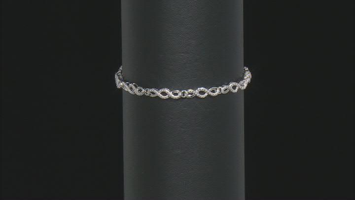 White Diamond Accent Rhodium Over Sterling Silver Tennis Bracelet