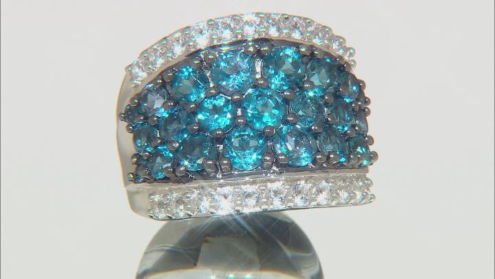 London Blue Topaz Sterling Silver Ring 5.40ctw
