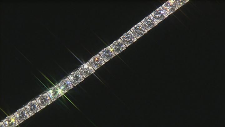 Bella Luce 18.45ctw Cz Platinum Plated .925 Sterling Silver Tennis Bracelet