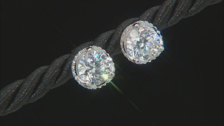 Cubic Zirconia Platineve Earrings 4.73ctw (2.78ctw DEW)
