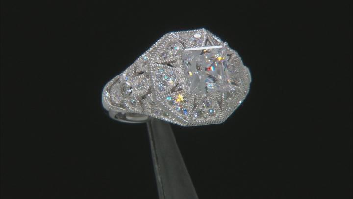 Cubic Zirconia Platineve Ring 4.50ctw