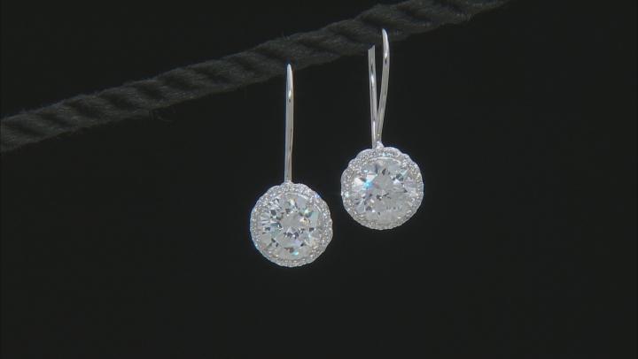 Cubic Zirconia Platineve Earrings 6.28ctw