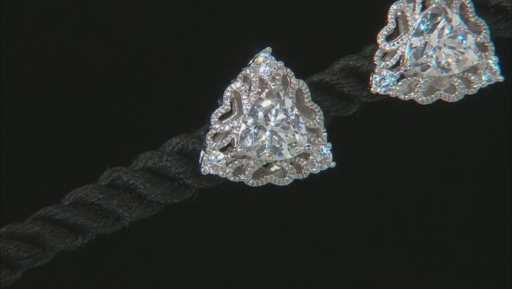 White Cubic Zirconia Platineve Earrings 2.84ctw
