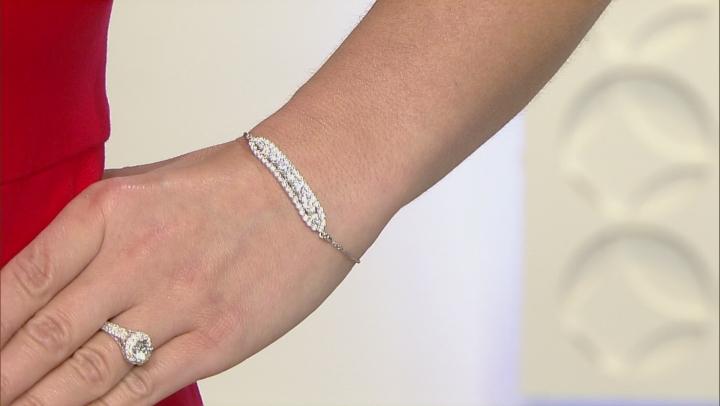 Cubic Zirconia Platineve Adjustable Bracelet 4.67ctw (2.99ctw DEW)