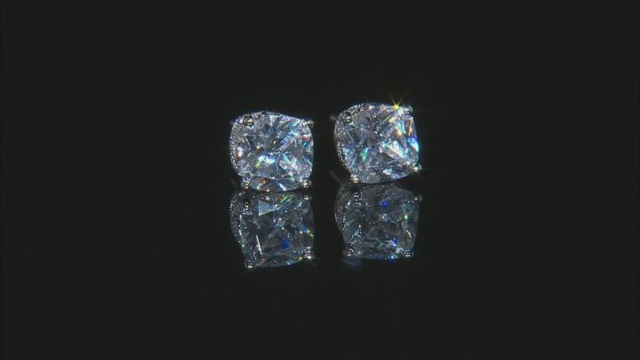 Cubic Zirconia Platineve Earrings 5.21ctw (3.96ctw DEW)