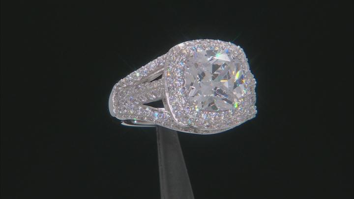 Cubic Zirconia Platineve Ring 7.38ctw (5.87ctw DEW)