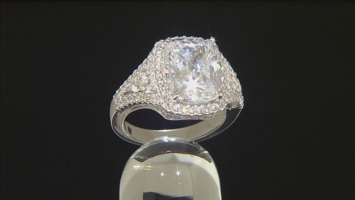White Cubic Zirconia Platineve Ring 10.14ctw