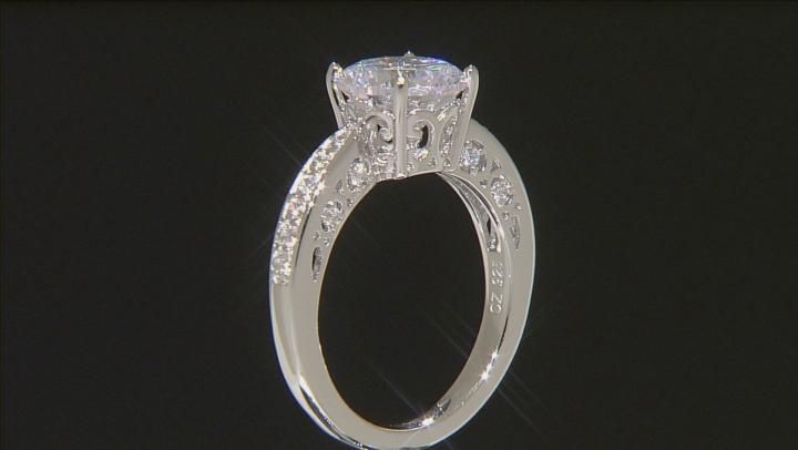 White Cubic Zirconia Platineve Ring 4.80ctw