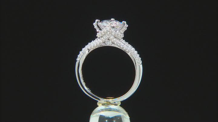 White Cubic Zirconia Platineve Ring 3.99ctw