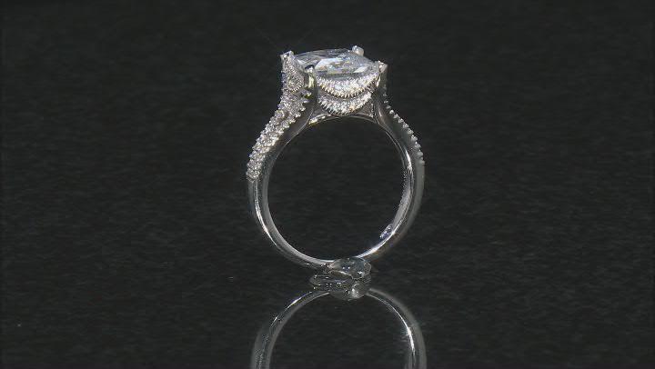 White Cubic Zirconia Platineve Ring 6.32ctw