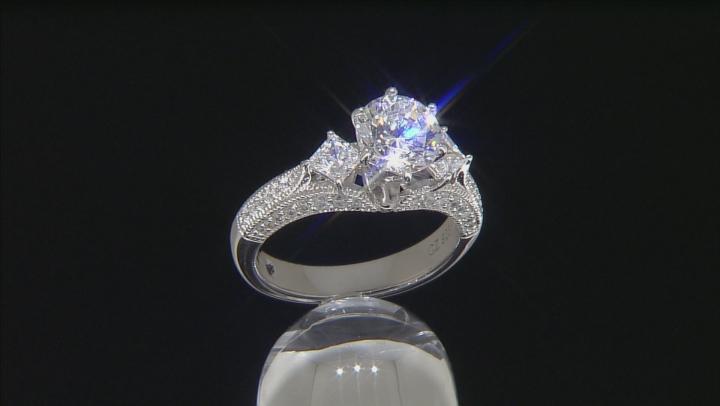 white cubic zirconia platineve ring