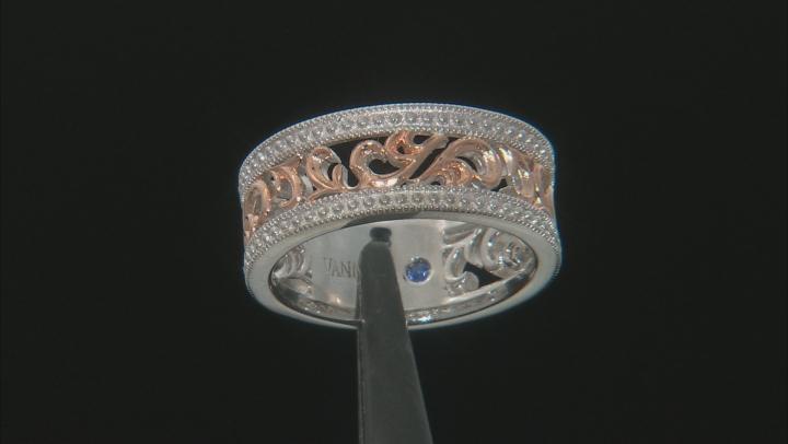 Platineve ™ & 18K Rose Gold Over Sterling Silver Ring