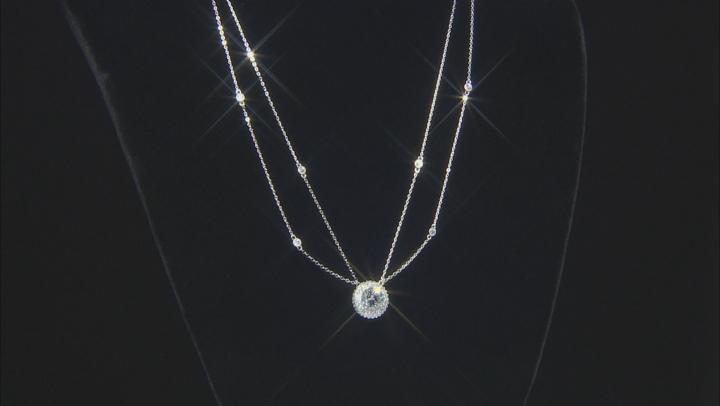 White Cubic Zirconia Platineve Necklace 4.36ctw