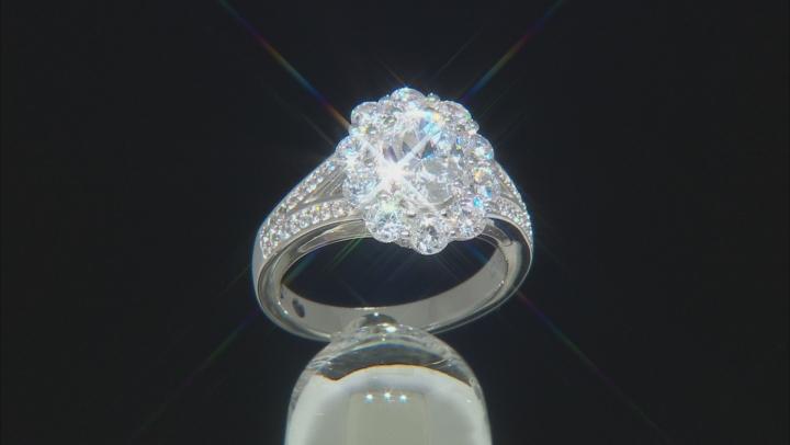 White Cubic Zirconia Platineve Ring 4.28CTW