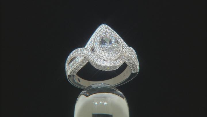 White Cubic Zirconia Platinenve Ring 3.70ctw