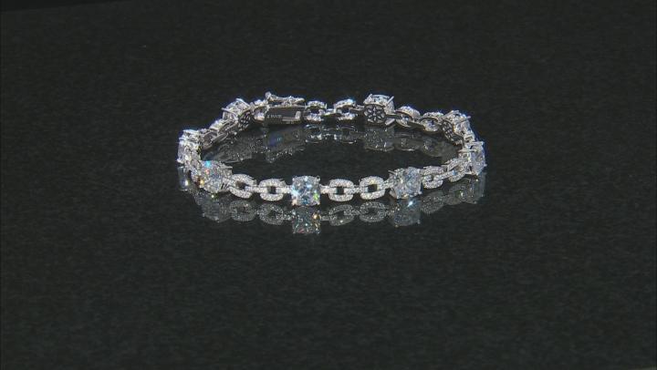 White Cubic Zirconia Platineve ™ Bracelet 19.48CTW