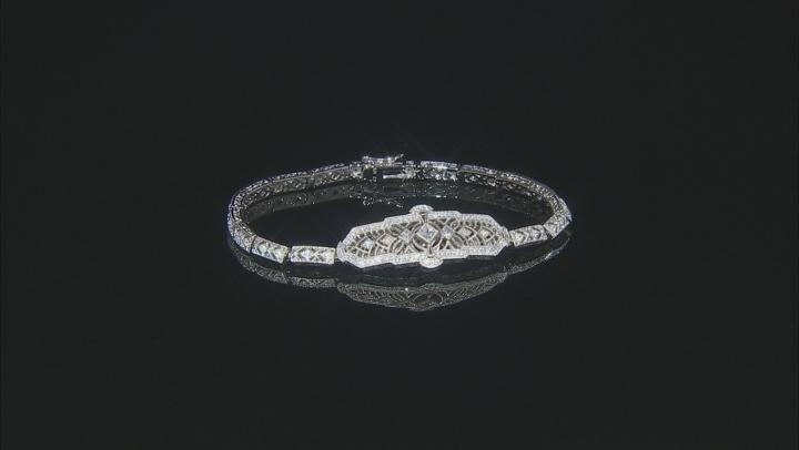 White Cubic Zirconia Platineve ™ Bracelet 1.37CTW