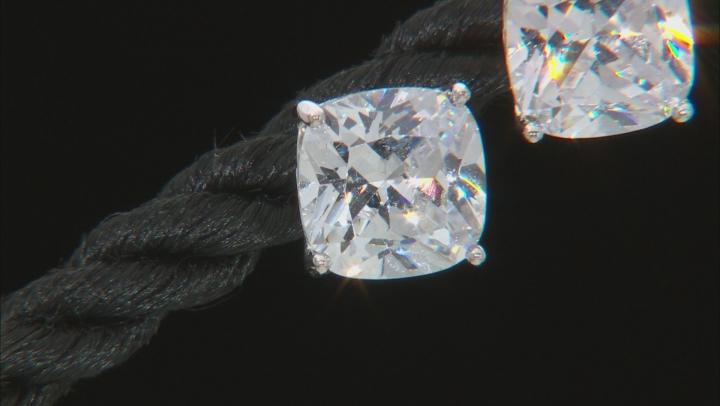 White Cubic Zirconia Platineve Stud Earrings 5.16ctw