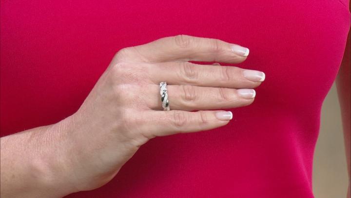 White Cubic Zirconia Platineve Ring 0.28ctw