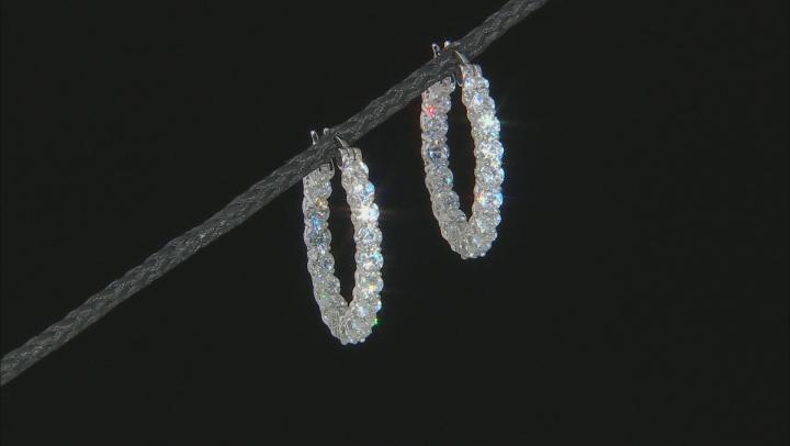 White Cubic Zirconia Platineve Earrings set of 2 9.99ctw