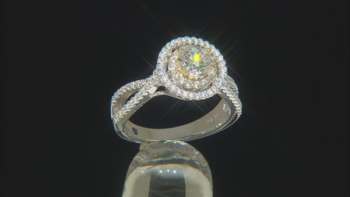 White Cubic Zirconia Platineve Ring 2.51ctw
