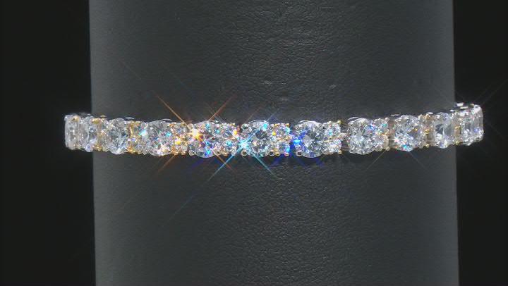White Cubic Zirconia Platineve Bracelet 24.10ctw