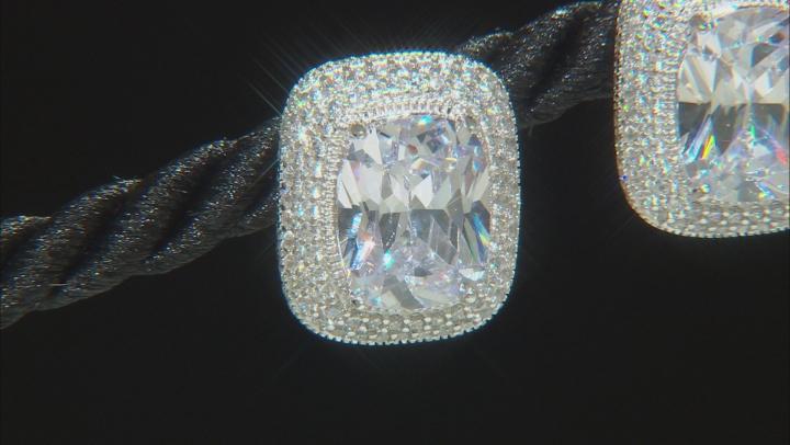 White Cubic Zirconia Platineve Stud Earrings 12.11ctw