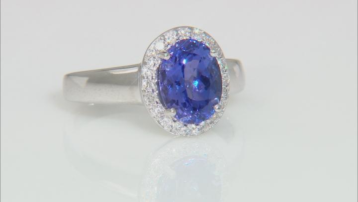 Blue Tanzanite 18k White Gold Ring 2.20ctw