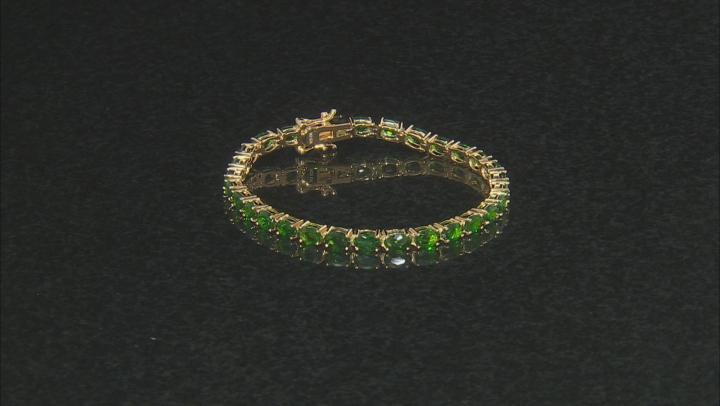 Green chrome diopside 18k gold over silver bracelet 12.57ctw