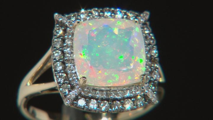 Ethiopian Opal 14K Yellow Gold Ring 2.12ctw