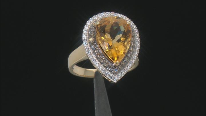 Golden Citrine 14k Yellow Gold Ring 4.98ctw