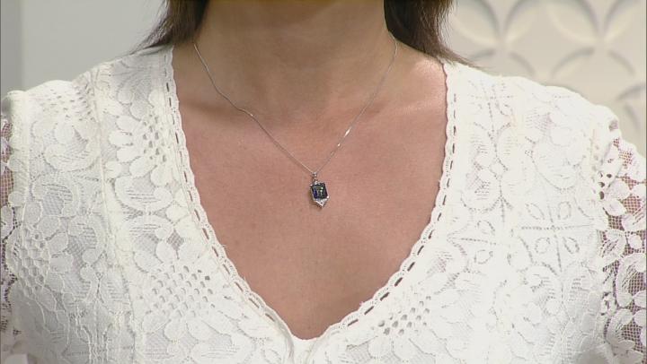 Odyssey Blue™ Mystic Quartz® Silver Pendant With Chain 3.64ctw