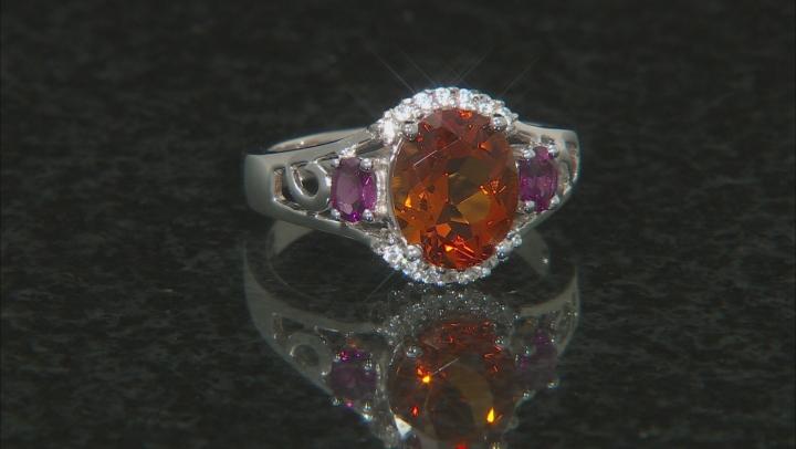 Orange Citrine Sterling Silver Ring 2.18ctw