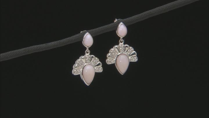 Pink Peruvian Opal Sterling Silver Earrings .24ctw