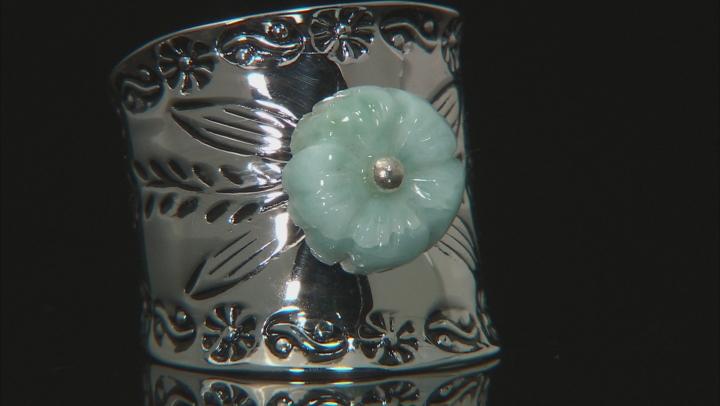 Blue Larimar Silver Ring