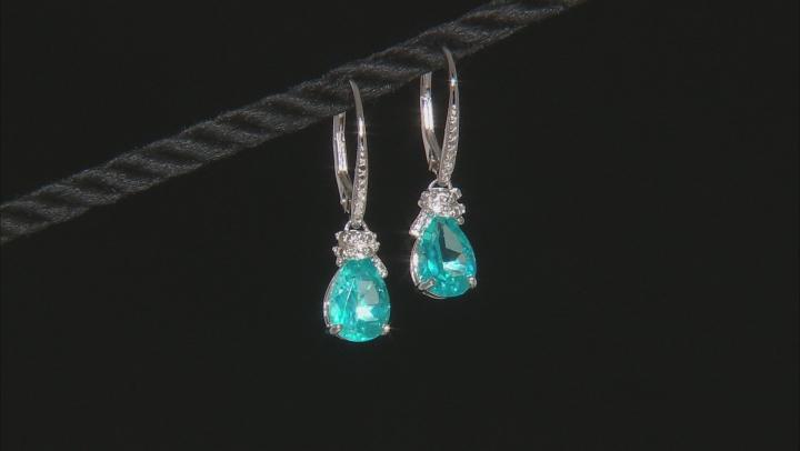 Blue Paraiba™ Topaz Silver Earings 4.06ctw