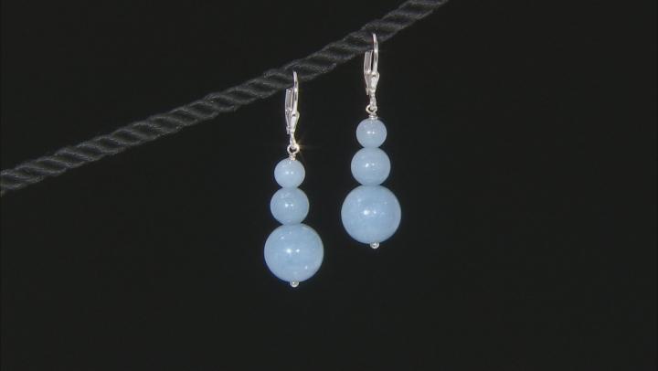 Blue Angelite Sterling Silver Earrings