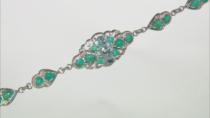 Sky blue topaz rhodium over sterling silver bracelet 2.57ctw