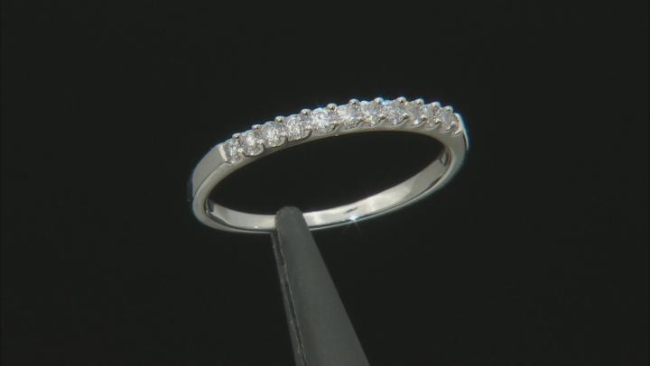 White Diamond 10K White Gold Ring 0.22ctw