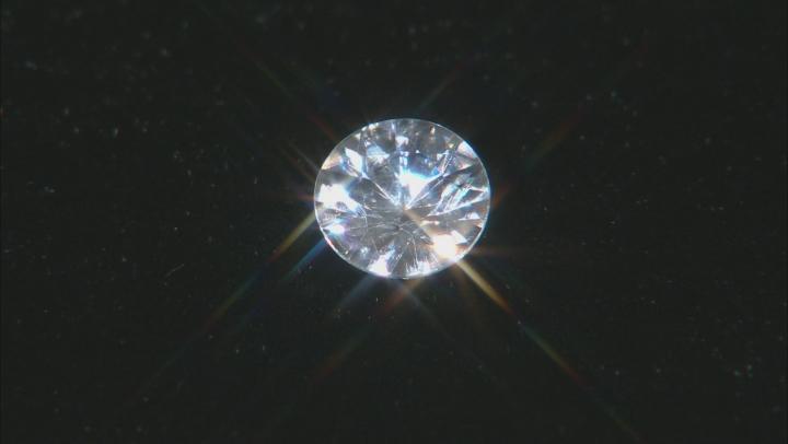 White Zircon 6.5mm Round 1.25ct
