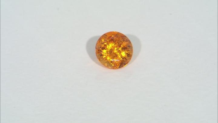 Garnet Spessartite 6.5mm Round 1.15ct